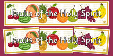Fruits of the Holy Spirit Display Banner
