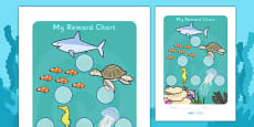 Under The Sea Sticker Reward Chart (30mm)