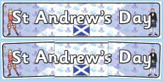 St Andrew's Day Display Banner