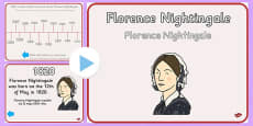 Florence Nightingale Timeline PowerPoint Polish Translation