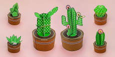Simple 3D Printable Cactus Pack