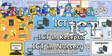 EYFS ICT or Computer Area Classroom Set Up Pack