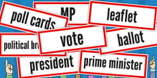 Election Vocabulary Cards