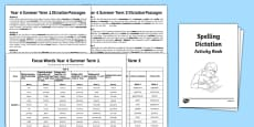 Year 6 Summer Term Spelling Dictation Passages Assessment Pack