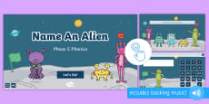 * NEW * Name an Alien: Phase 5 Phonics Game