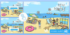 EYFS The Seaside Picture Hotspots