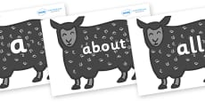 100 High Frequency Words on Black Sheep to Support Teaching on Brown Bear, Brown Bear