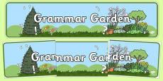 Grammar Garden Display Banner