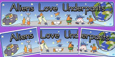 Australia - Display Banner to Support Teaching on Aliens Love Underpants