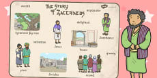Zacchaeus the Tax Collector Bible Story Word Mat