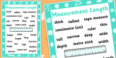 Key Stage 1 Measurement Length Poster