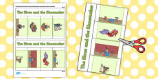 The Elves and the Shoemaker Story Writing Flap Book