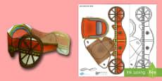 3D Roman Chariot Paper Model