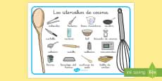 Tapiz de vocabulario: Los utensilios de cocina