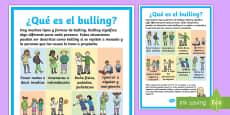 Póster: ¿Qué es el bulling? Póster DIN A4