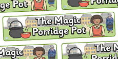 The Magic Porridge Pot Display Banner