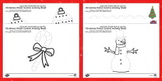 Christmas Pencil Control Sheets Arabic/English