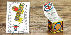 Victorian Toys Jack in the Box Paper Model