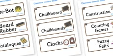 Bear Themed Editable Additional Classroom Resource Labels