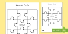 Memorial Puzzle Activity Sheet
