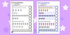 Eid Counting Worksheet Arabic Translation