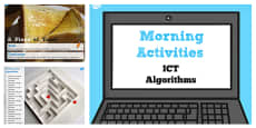 ICT Morning Activities Algorithms PowerPoint - Australia