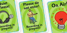 Music Production Role Play Signs