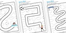 Sport Pencil Control Path Worksheets