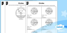 PlanIt Y6 Properties of Shape Parts of Circles Home Learning Tasks