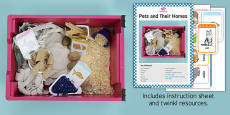 Pets and Their Homes Sensory Tray Printable Resource Pack