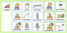 Visual Timetable (Getting Ready For Bed - Boys)