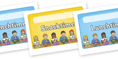 Editable Lunchtime Snack Time Mat