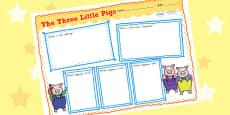 Australia - The Three Little Pigs Story Review Writing Frames