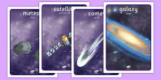 Space Display Posters Detailed Images Arabic Translation