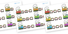 Train Addition Activity Sheets