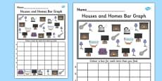Houses and Homes Bar Graph Activity Activity Sheet
