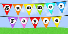 Summer Fayre Bunting (School Fair)