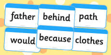 Year 2 Common Exception Words Flashcards