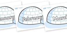 Months of the Year on Igloos
