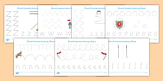 Castles and Knights Pencil Control Activity Sheet Pack