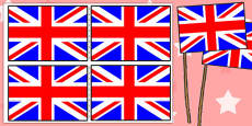 Union Flag Handheld Flags