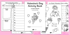 Valentine's Day Themed Activity Book French Translation