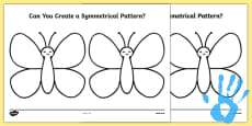 Create a Symmetrical Butterfly Pattern Fingerprint Activity Sheet