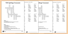 Year 3-4 Statutory Spelling List Crossword Pack