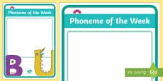 * NEW * Phoneme of the Week Display Poster