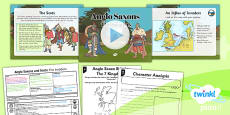 PlanIt - History LKS2 - Anglo Saxons and Scots Lesson 1: The Invaders Lesson Pack