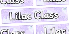 Lilac Themed Classroom Display Banner