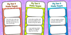 2014 Curriculum Year 6 Maths Target Bookmarks