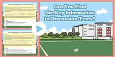 Retrieve and Record Information from Non Fiction Discussion Texts Morning Work Task USA