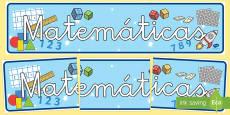 * NEW * Pancarta: Matemáticas